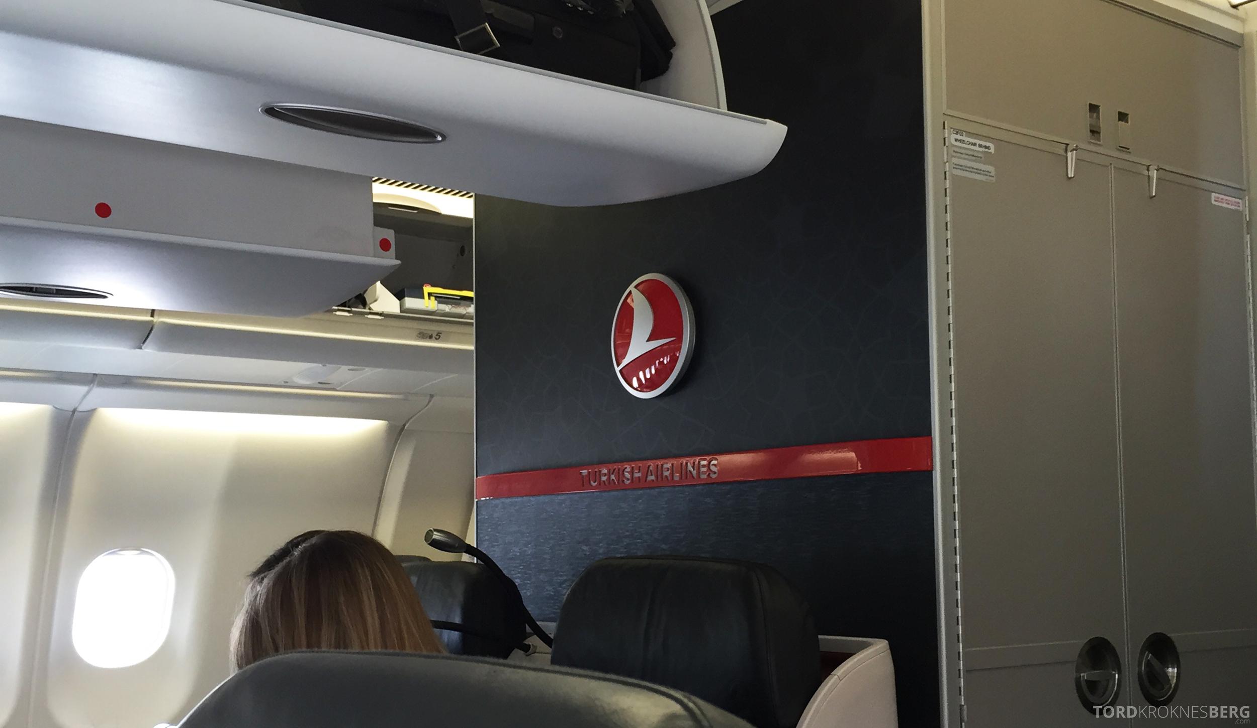 Turkish Airlines Business Class Boston interiør