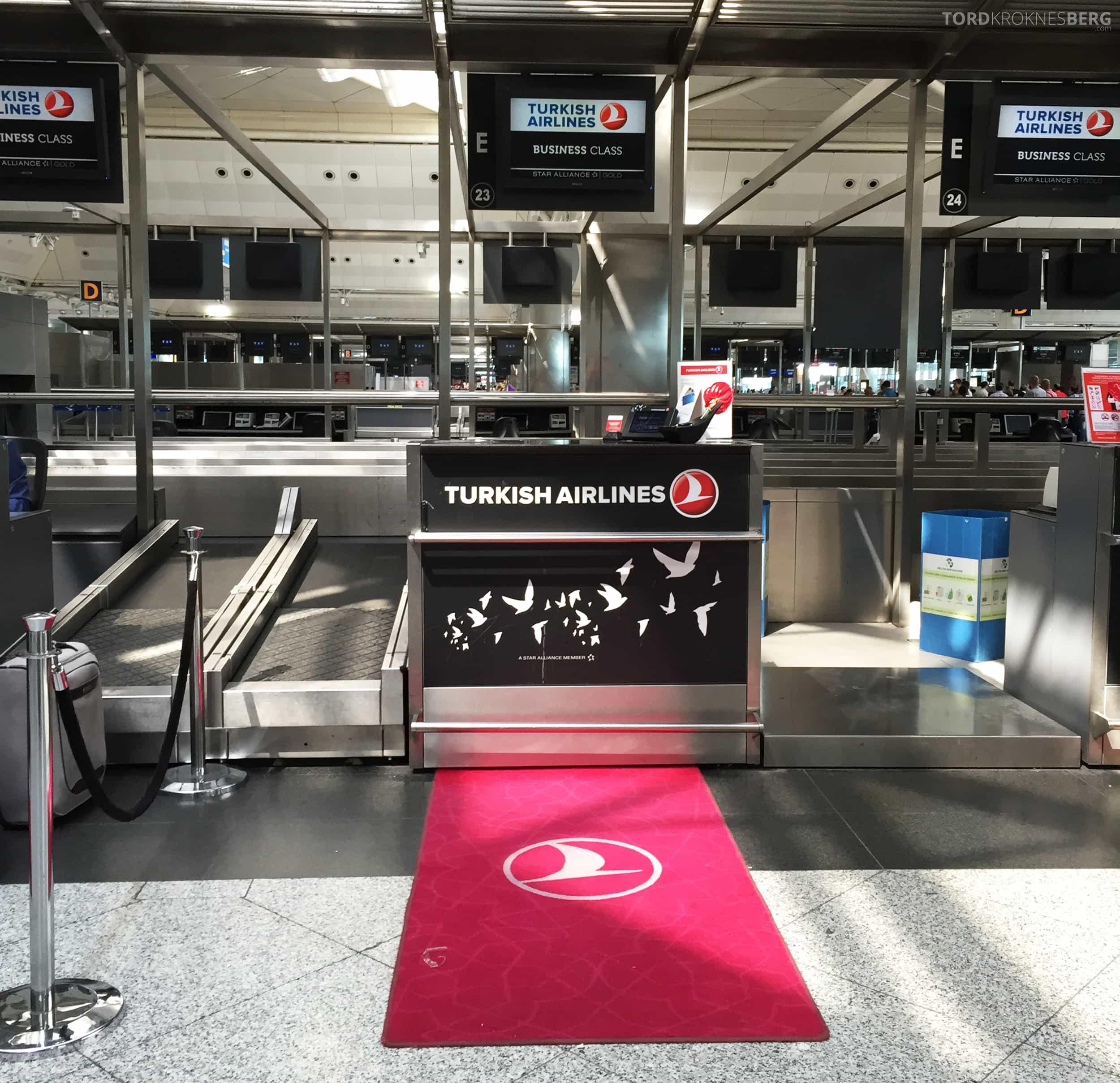 Turkish Airlines Business Class Boston innsjekk