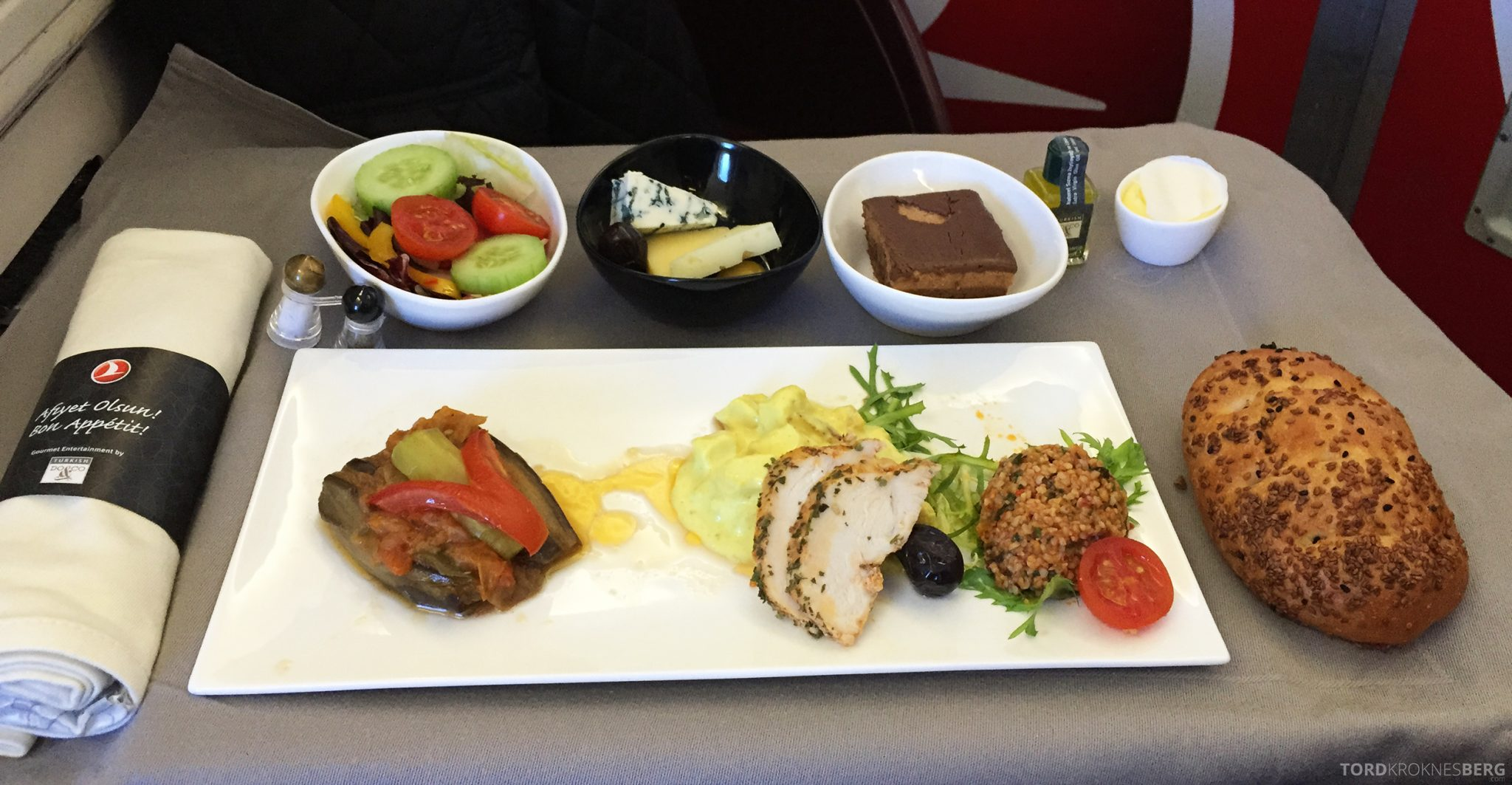 Turkish Airlines Business Class Oslo Istanbul mat