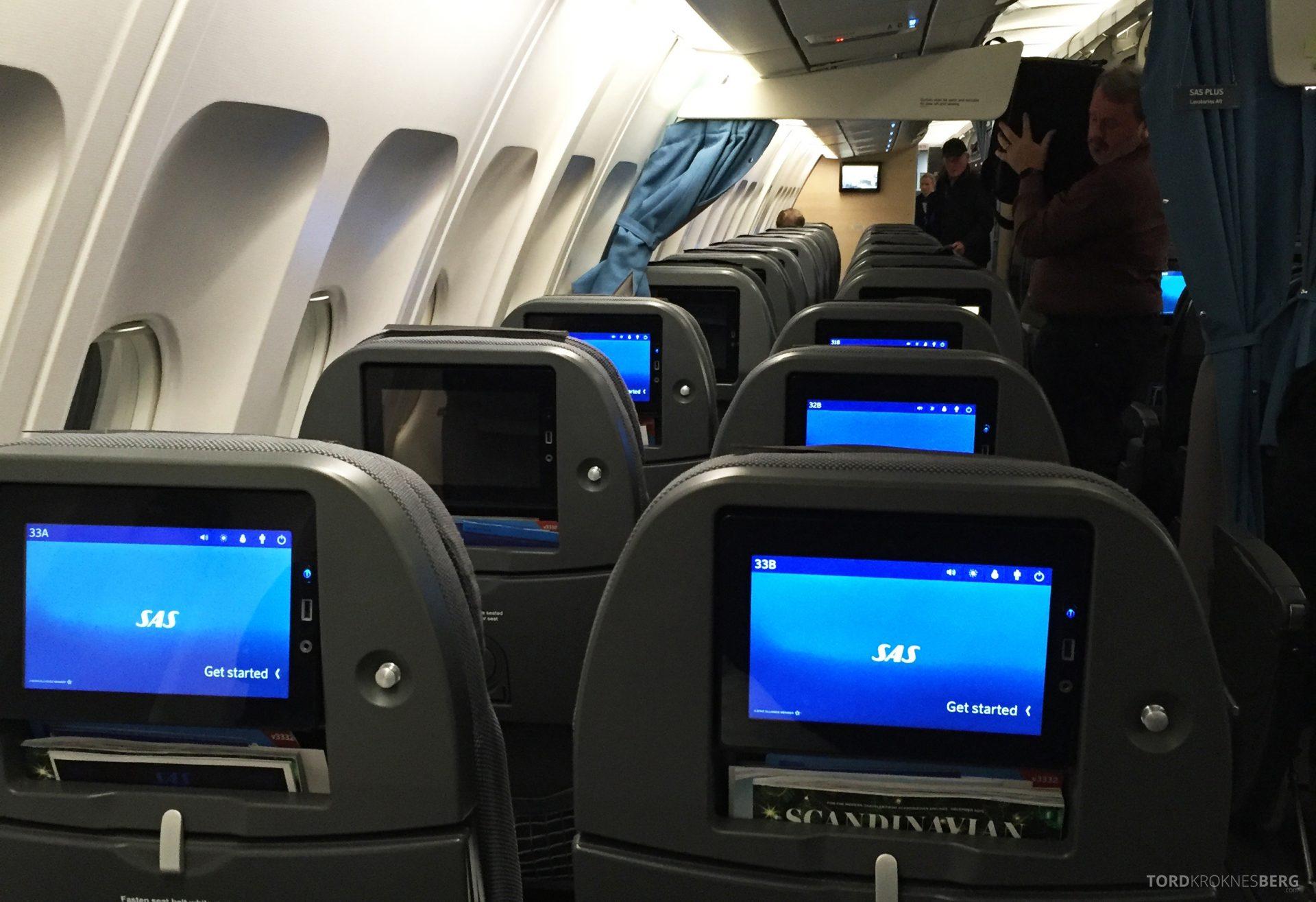 SAS Go fra New York til Oslo kabin