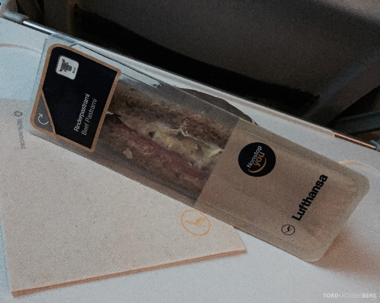 Lufthansa Economy Classic food