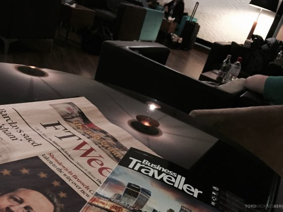 Lufthansa Lounge Budapest newspapers