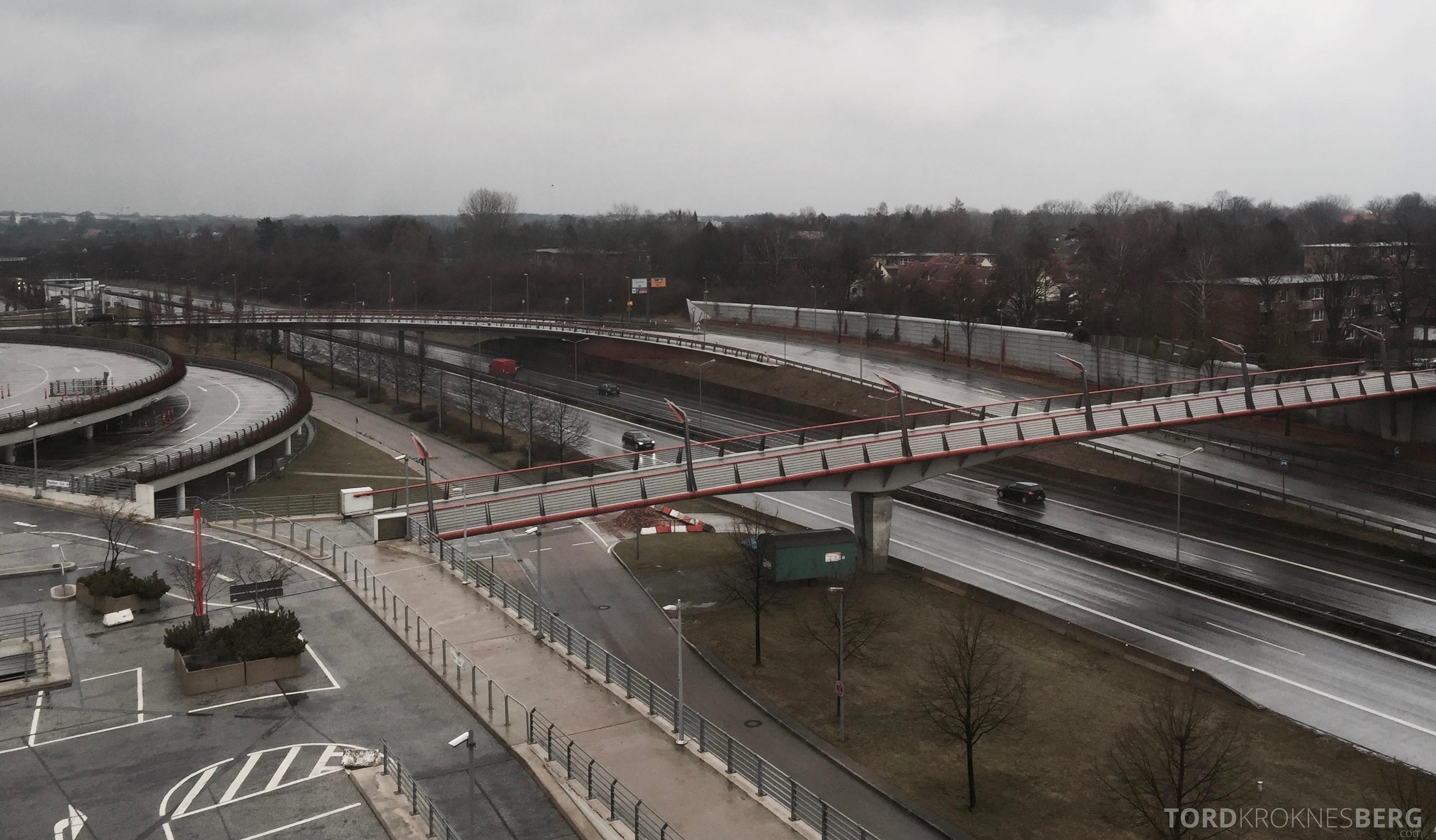 Radisson Blu Hamburg Airport utsikt motorvei