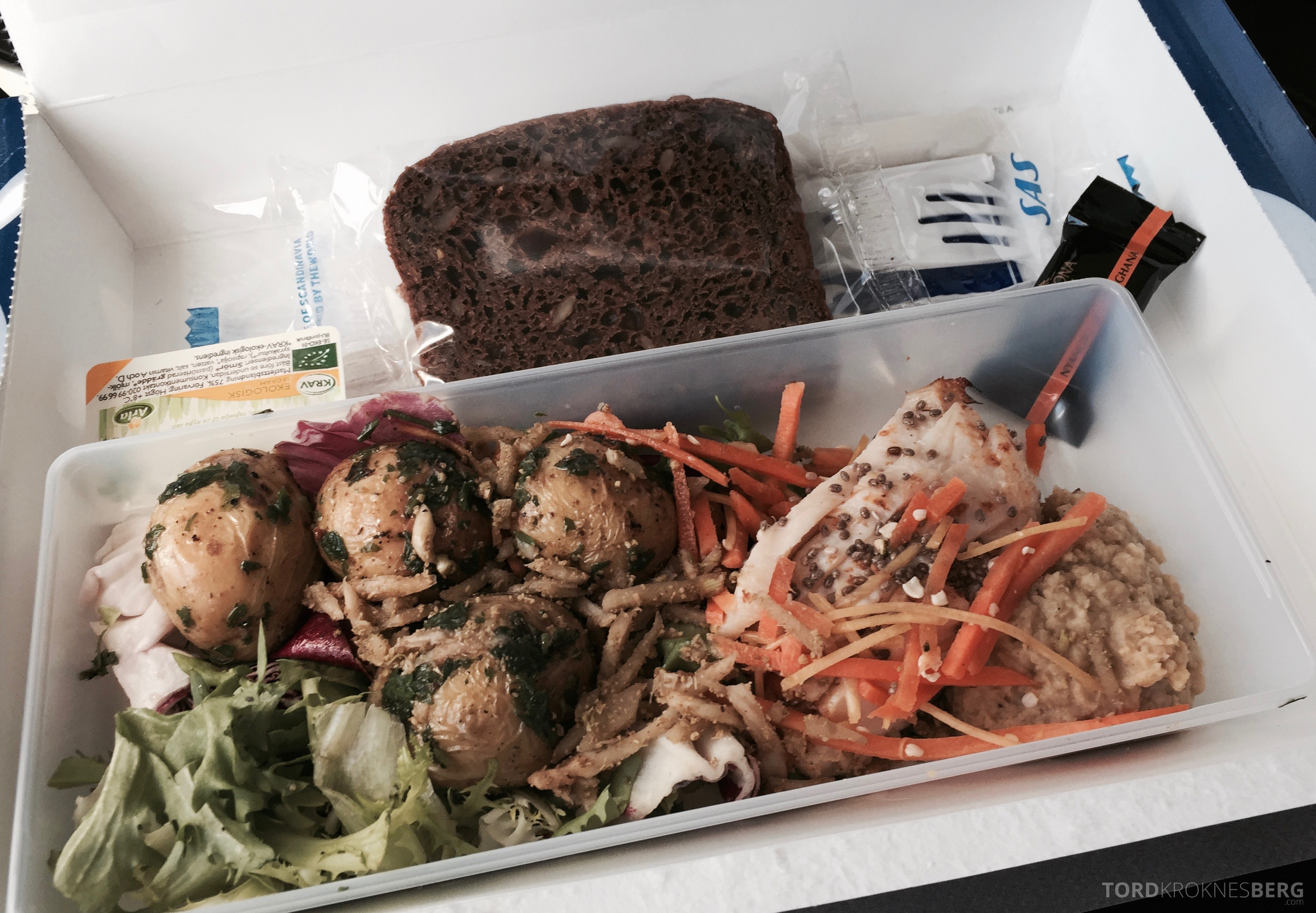 SAS Plus til Genève mat ombord 2