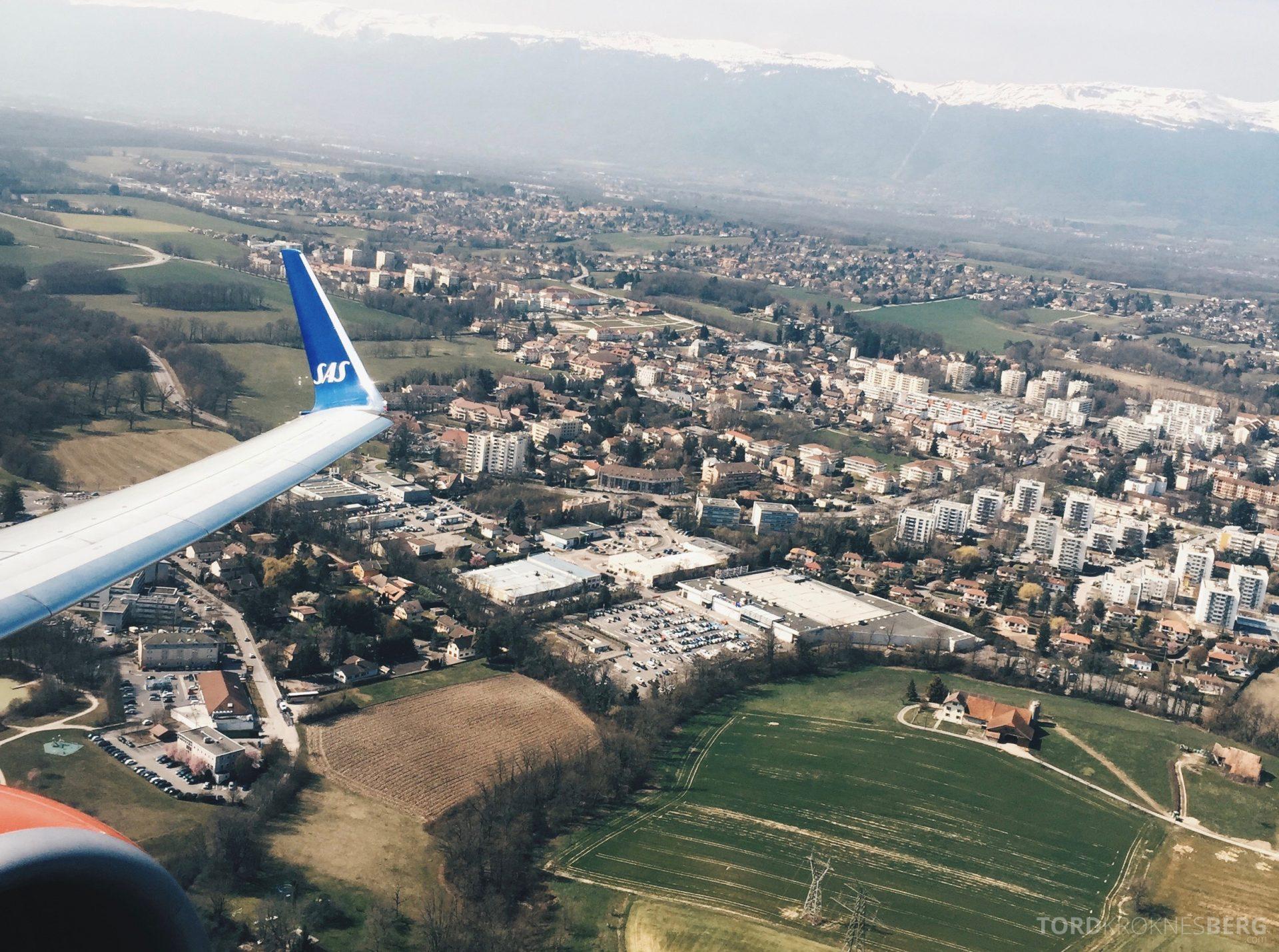 SAS Plus til Genève utsikt over byen
