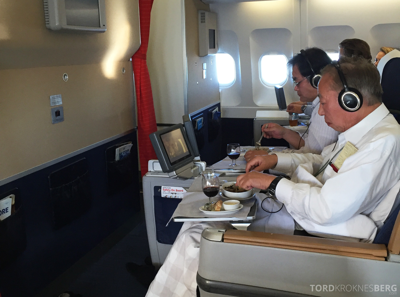 SAS Business Class gammel kabin oversikt