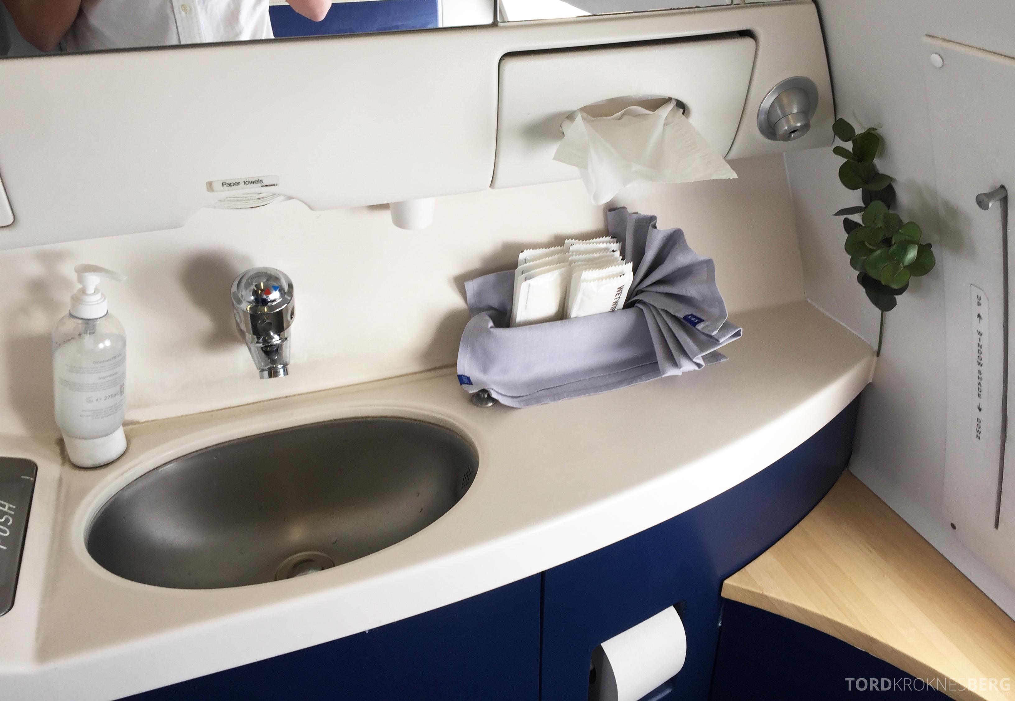 SAS Business Class gammel kabin toalett