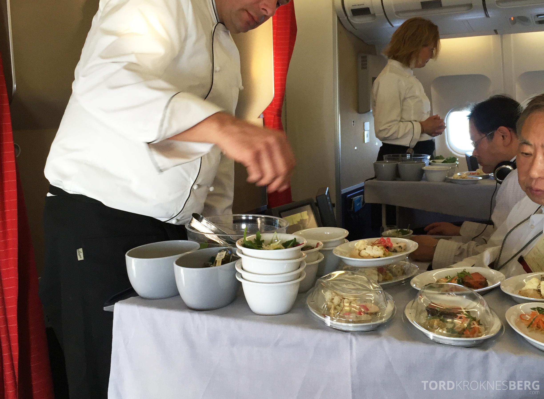 SAS Business Class gammel kabin servering