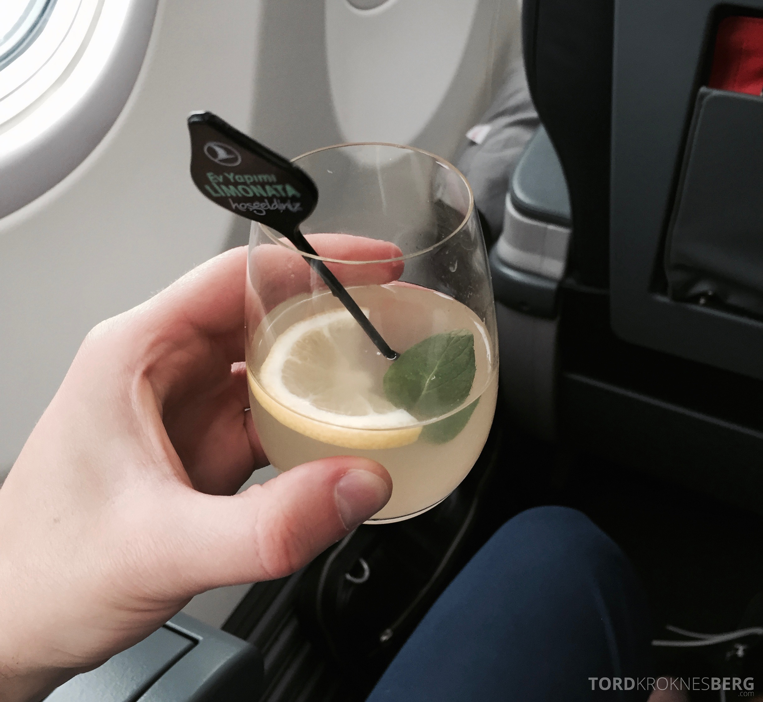 Turkish Airlines Business Class drink