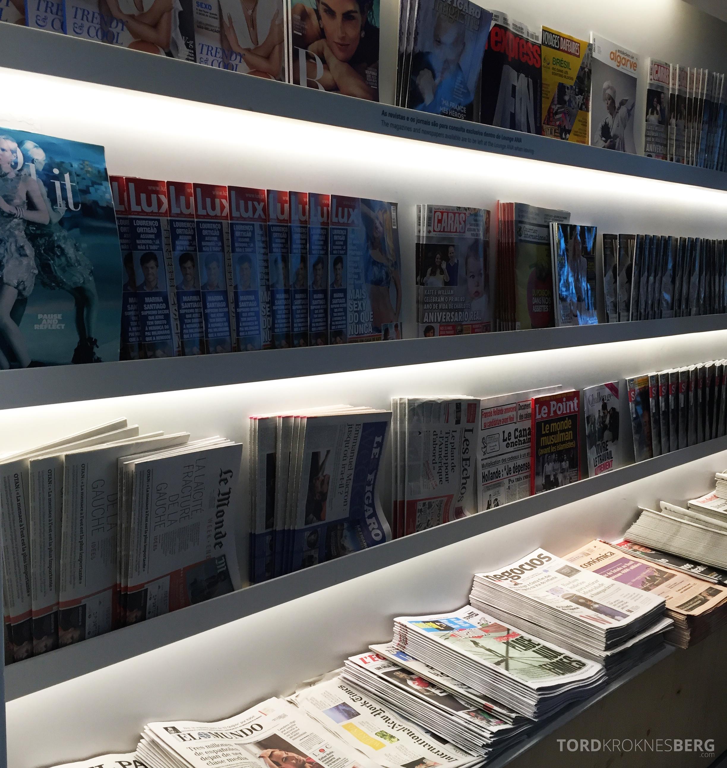 ANA Lounge Lisboa aviser og magasiner