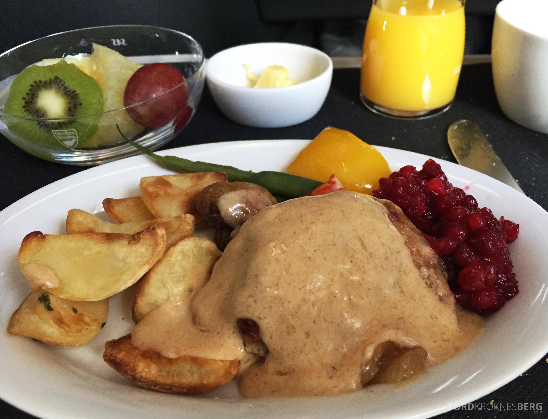 SAS Business Class Tokyo Oslo skandinavisk lunch