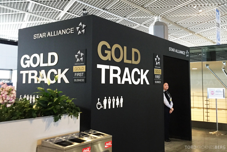 SAS Business Class Tokyo Oslo gold track