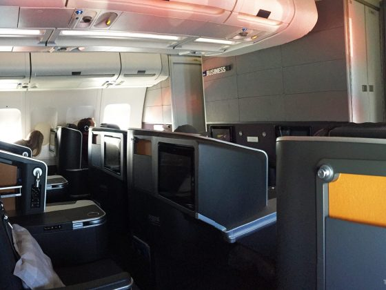 SAS Business Class Tokyo Oslo kabin