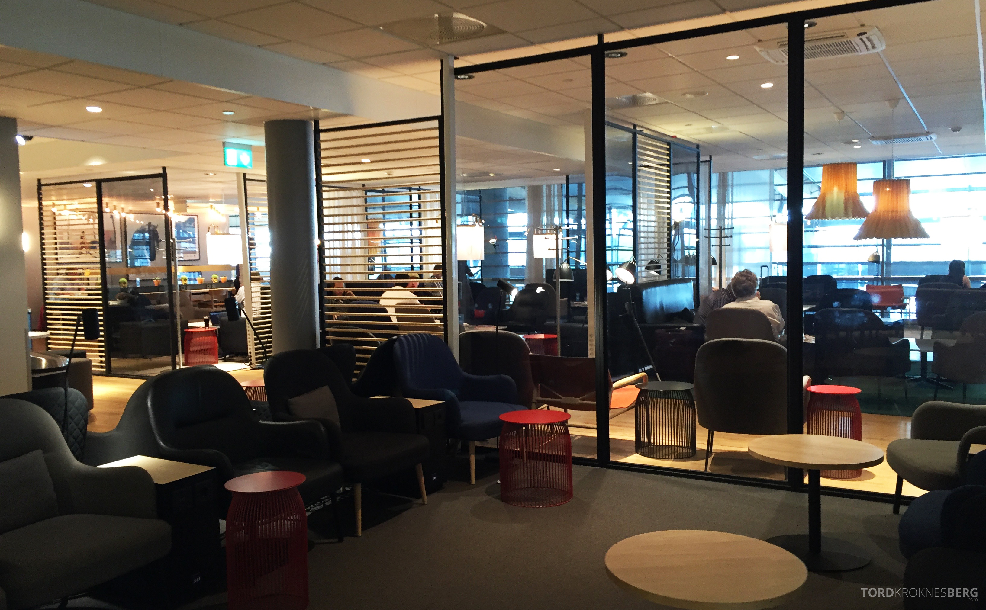 SAS Gold Lounge Oslo sitteplasser