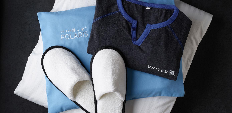 United Business Class Polaris god natt