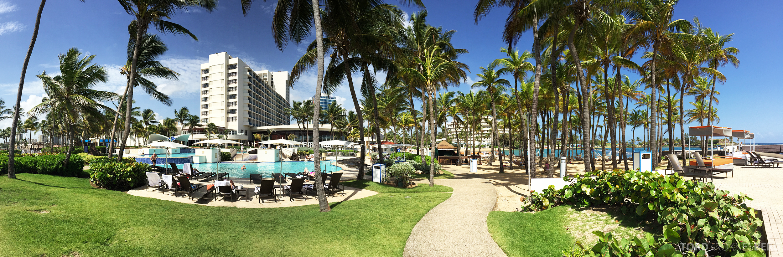 Caribe Hilton utsikt fra havet
