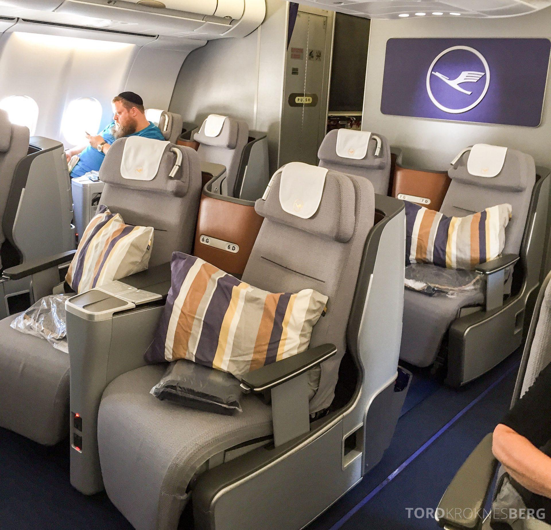 Lufthansa Business Class München til New York seter