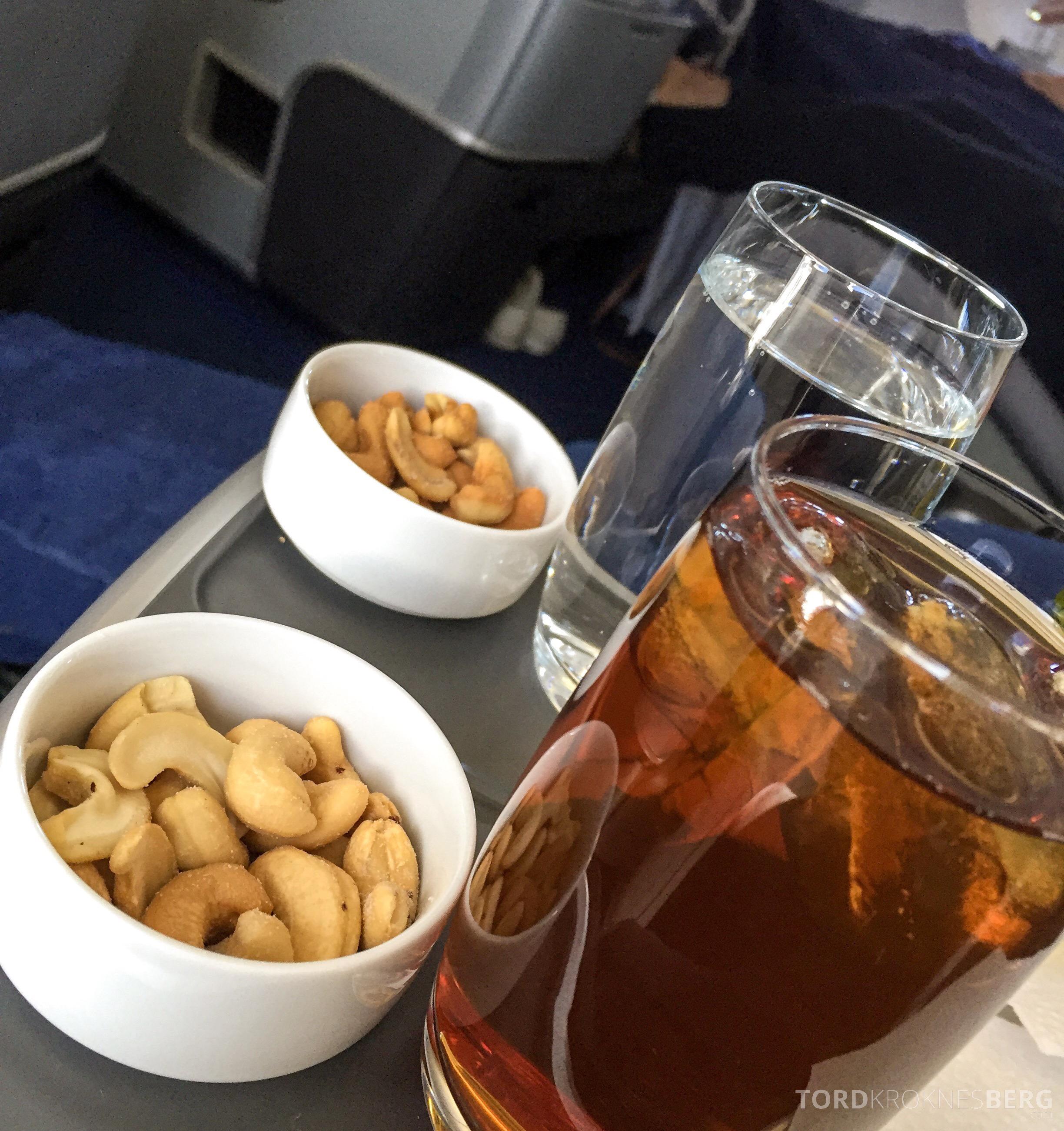 Lufthansa Business Class München til New York nøtter