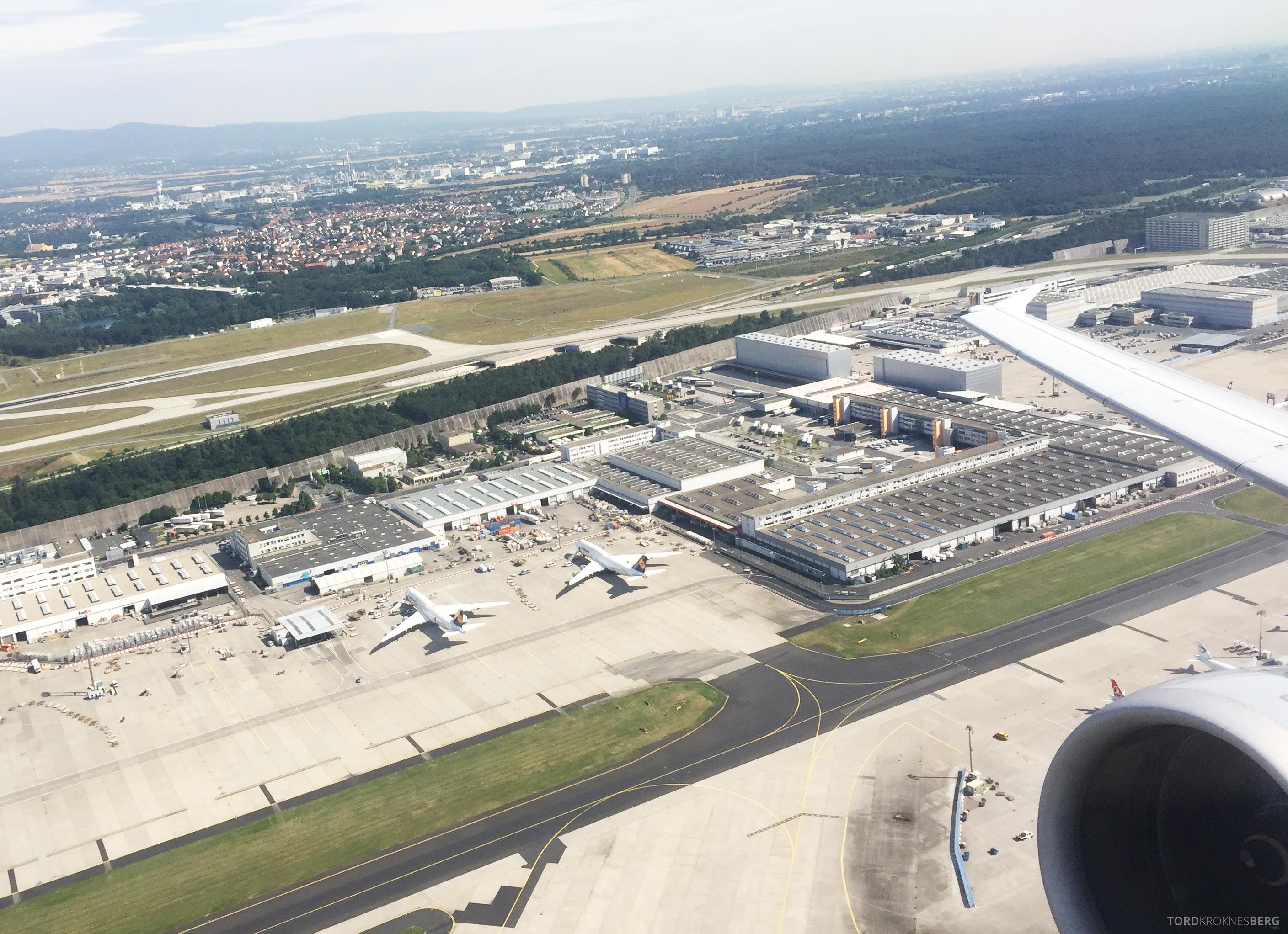 Lufthansa Business Class Frankfurt Oslo flyplass