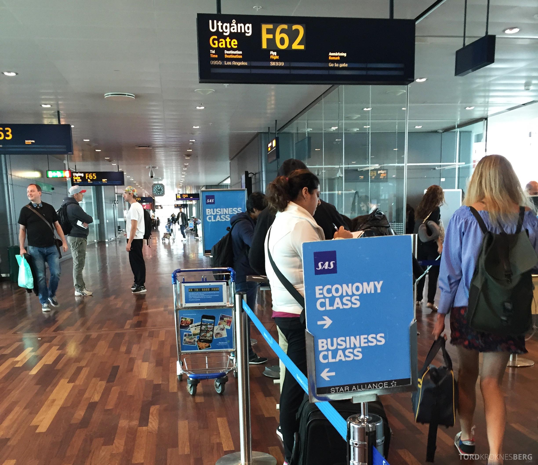 SAS Business Class fra Stockholm til Los Angeles boarding