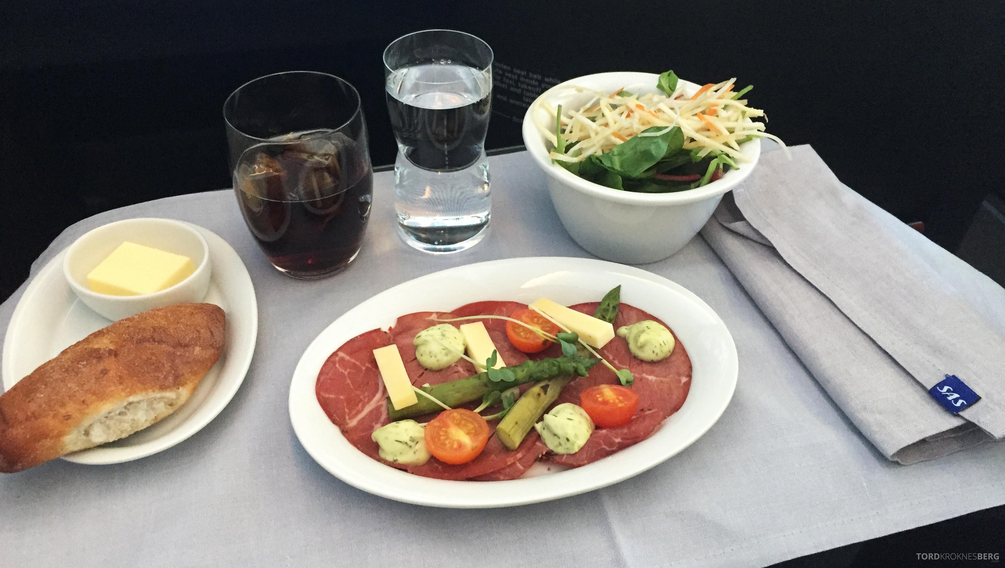 SAS Business Class fra Stockholm til Los Angeles forrett