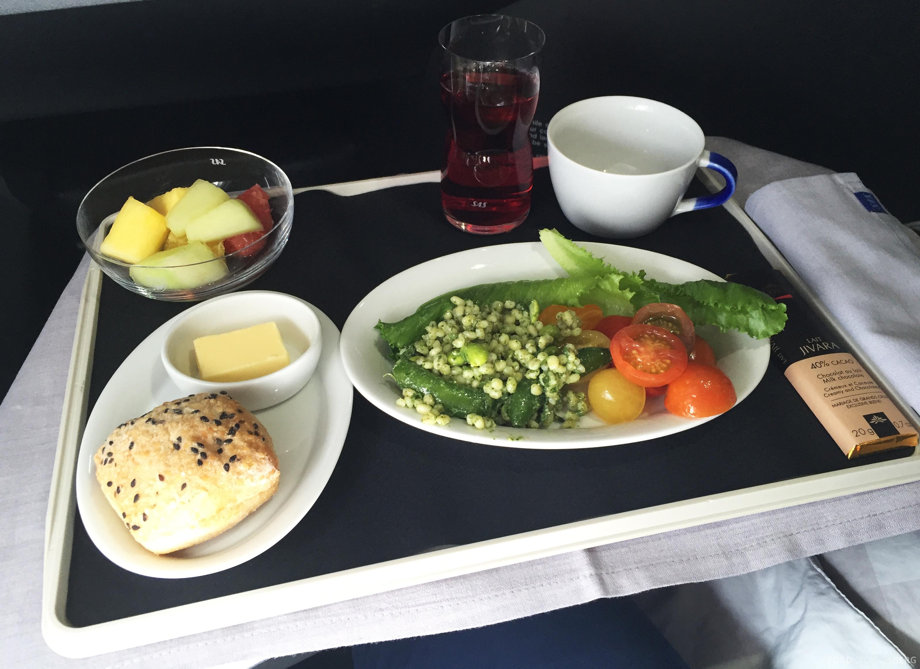 SAS Business Class fra Stockholm til Los Angeles lunch