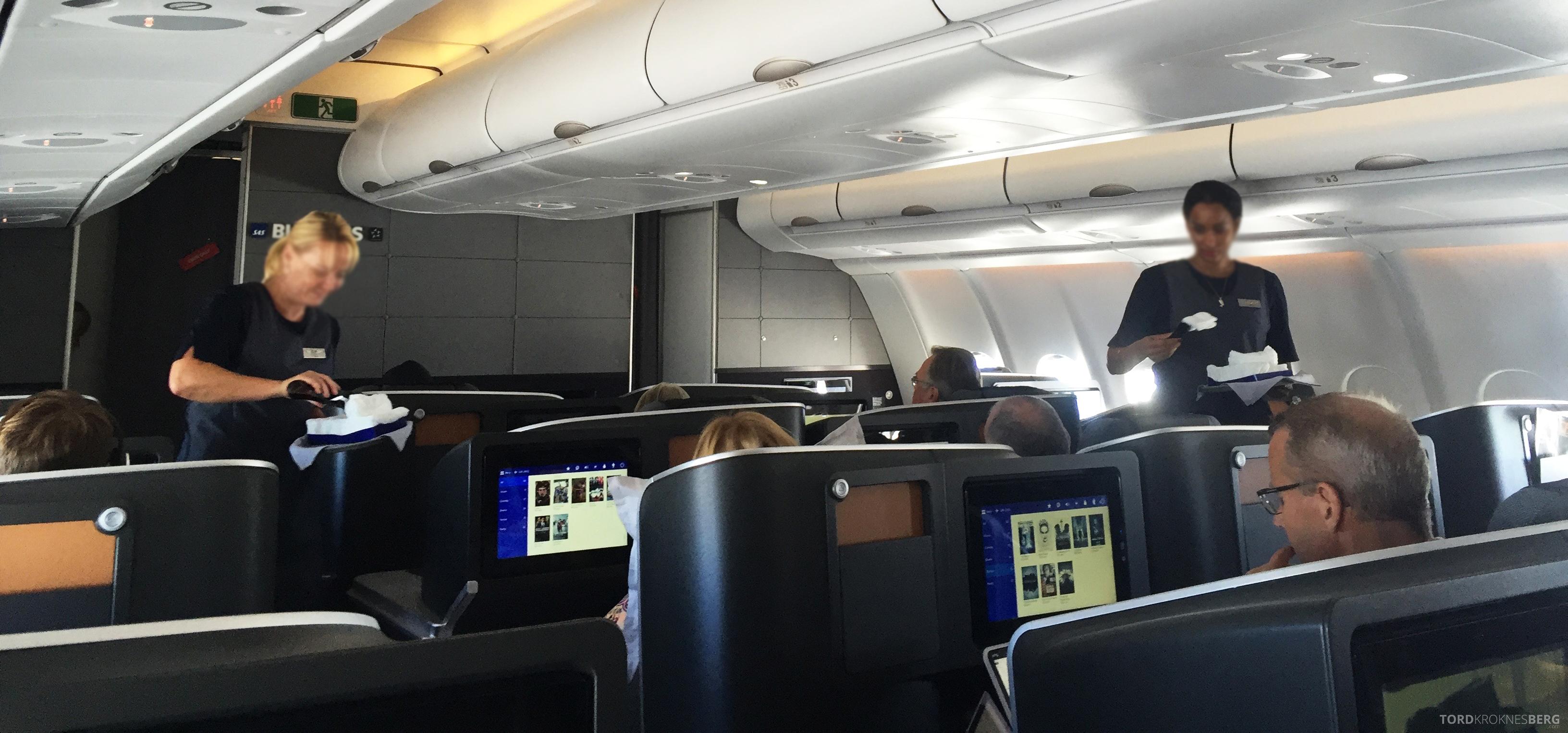 SAS Business Class fra Stockholm til Los Angeles varme kluter