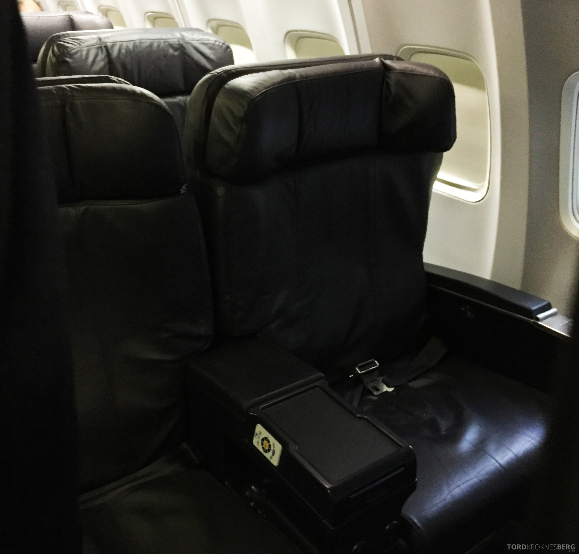 United Business Class San Juan til Houston sete