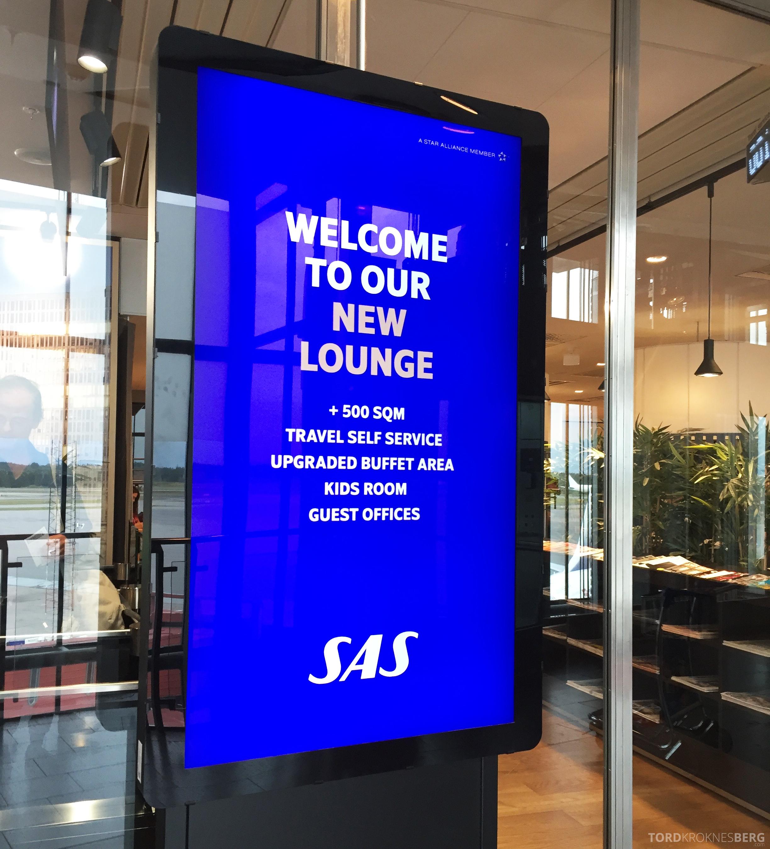 SAS Gold Lounge Stockholm ny