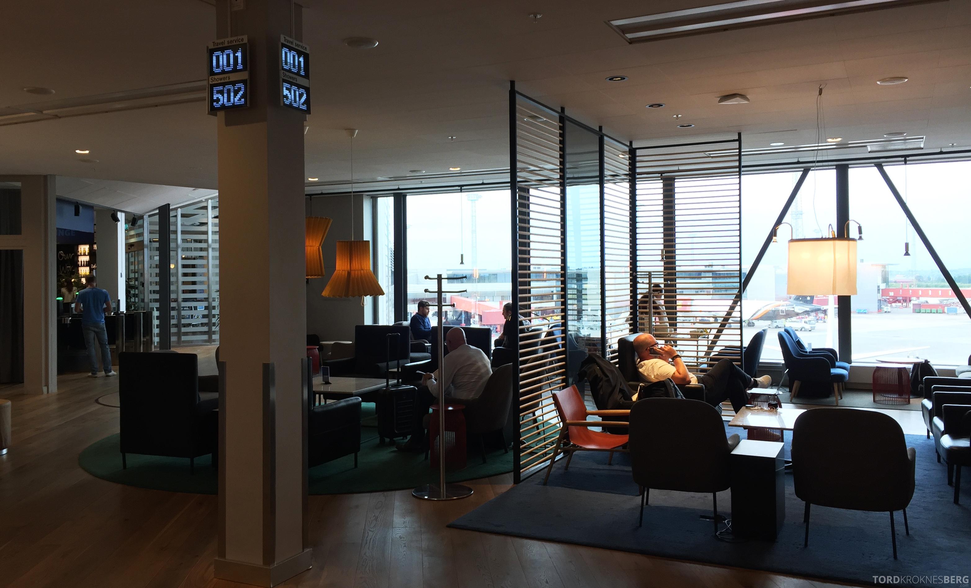 SAS Gold Lounge Stockholm sitteplasser