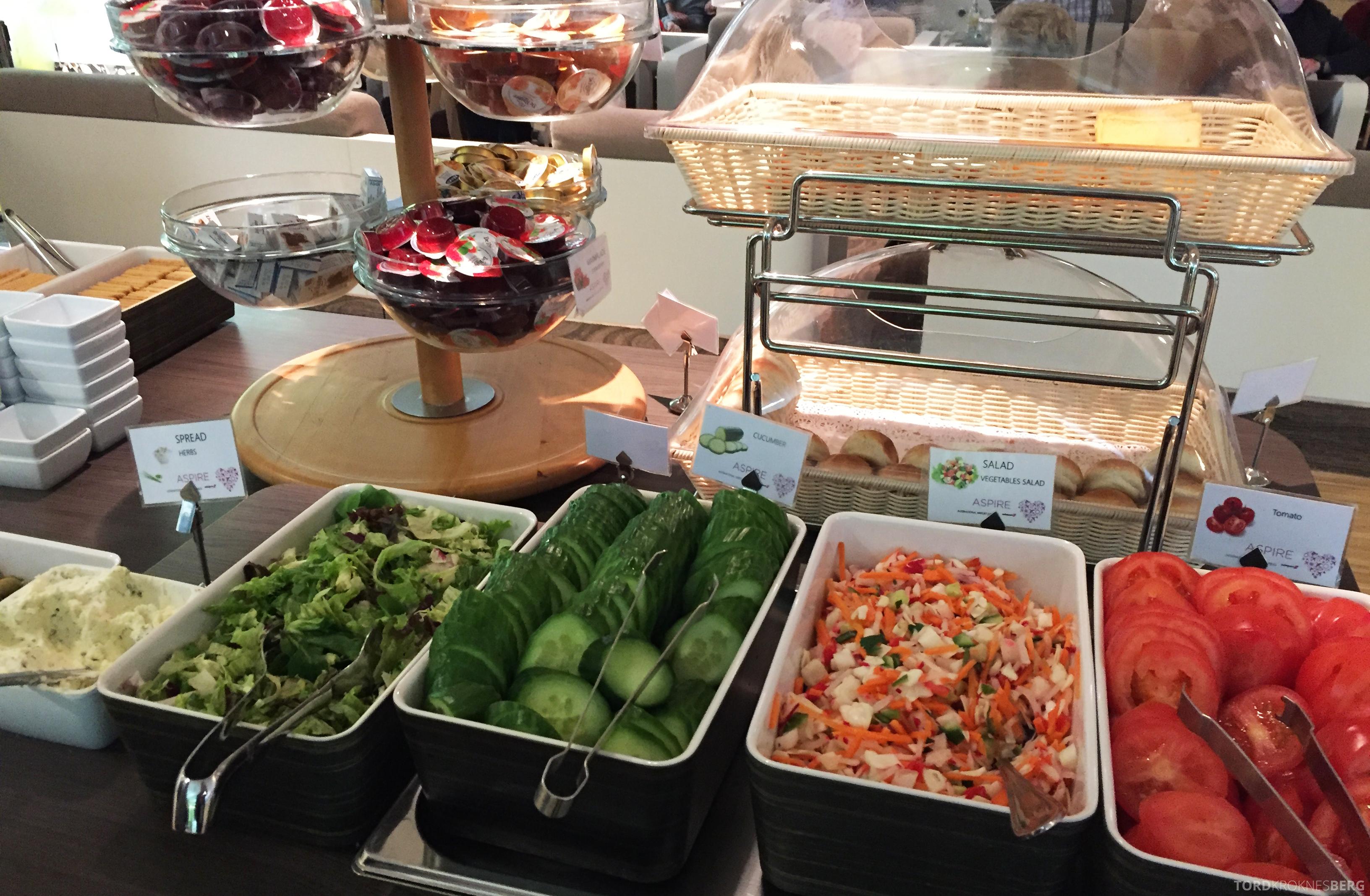 Aspire Lounge Schiphol Amsterdam grønnsaker