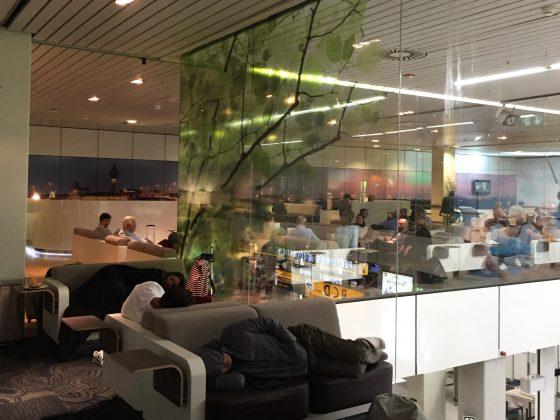 Aspire Lounge Schiphol Amsterdam utsikt