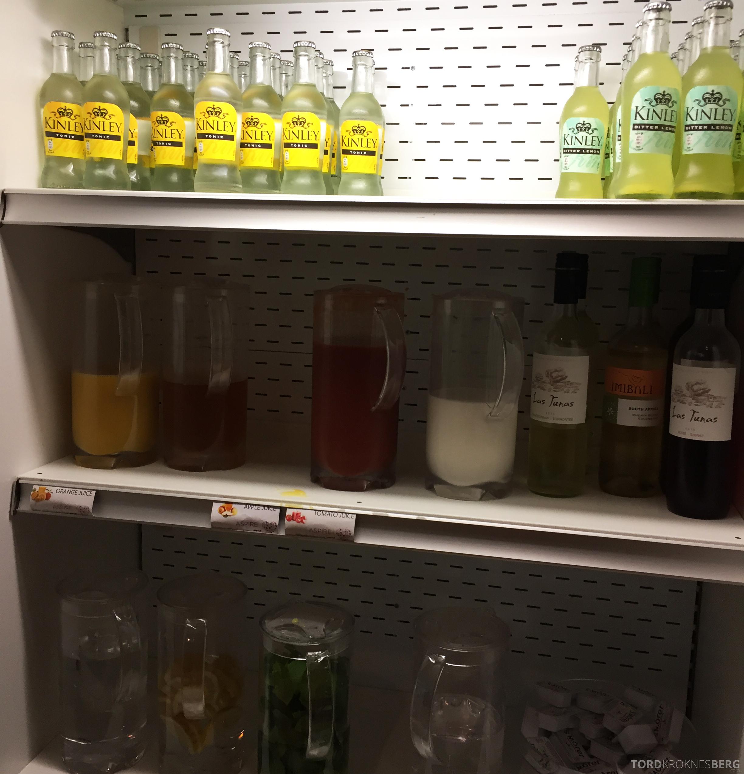 Aspire Lounge Schiphol Amsterdam drikke