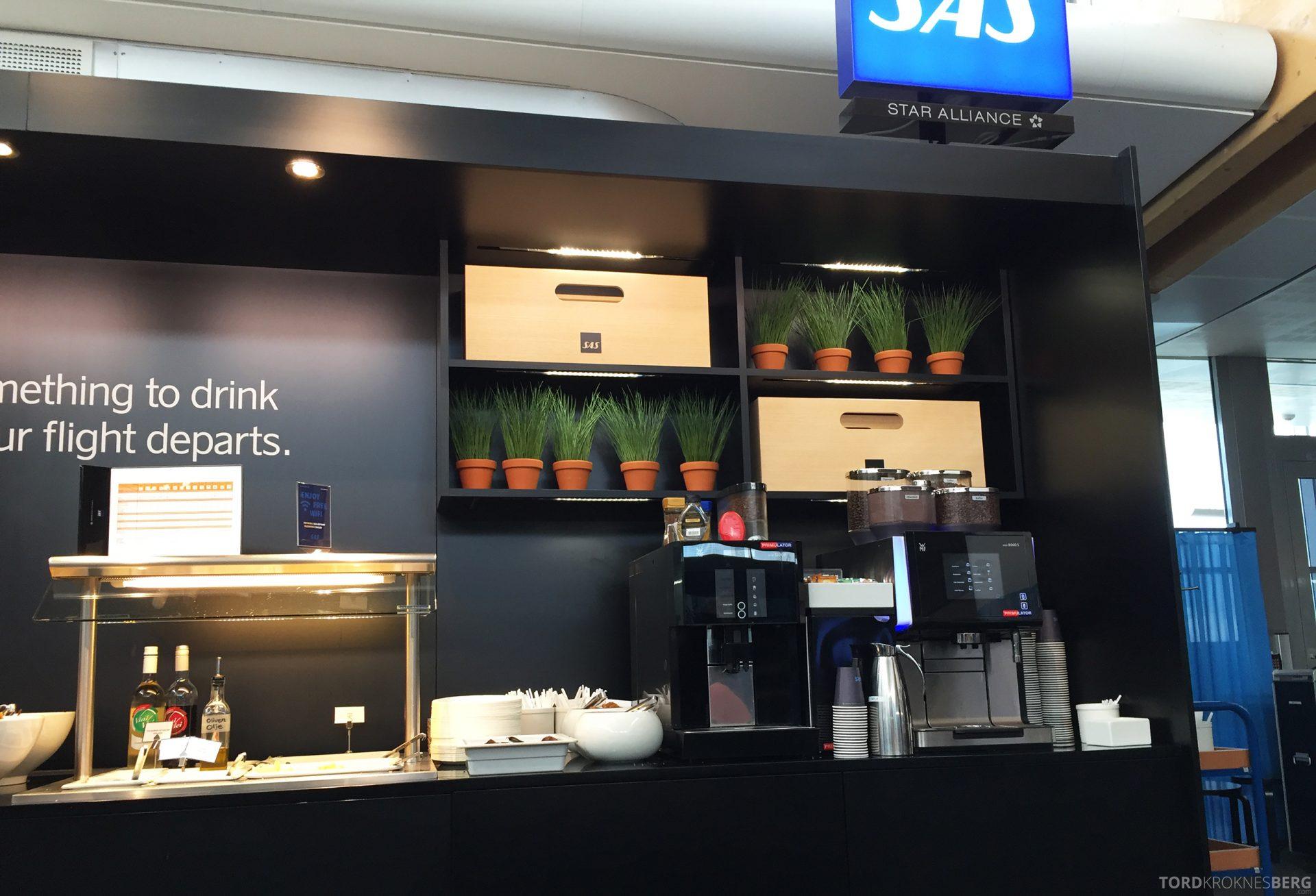 SAS Innenrikslounge Oslo buffet