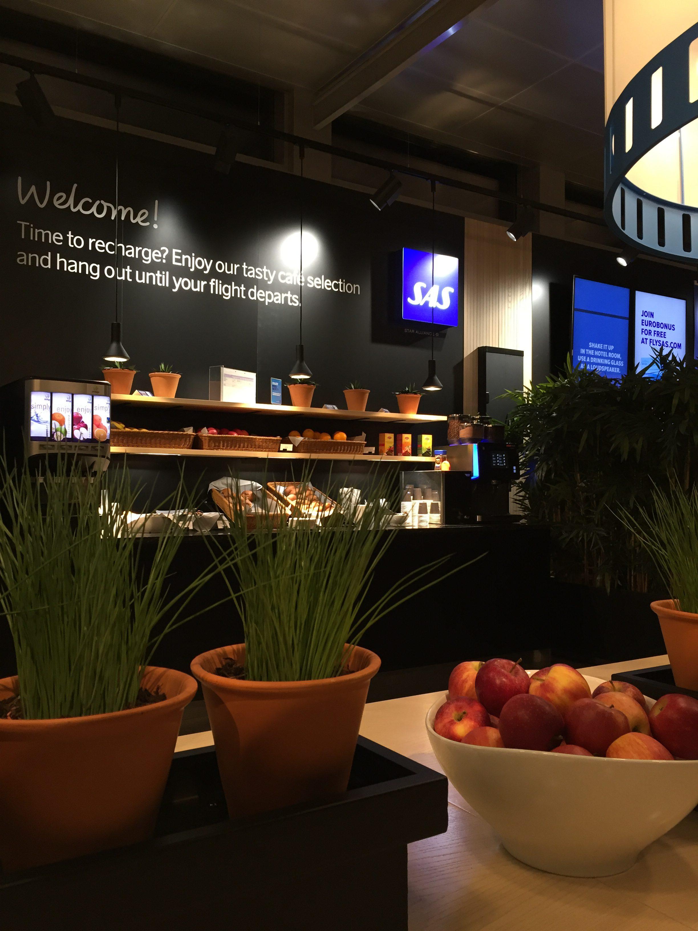 SAS Café Lounge Trondheim jul