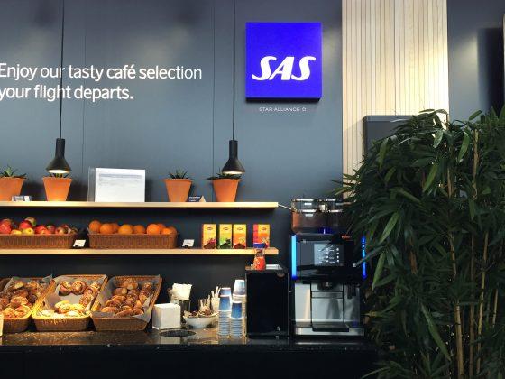 SAS Café Lounge Trondheim buffet