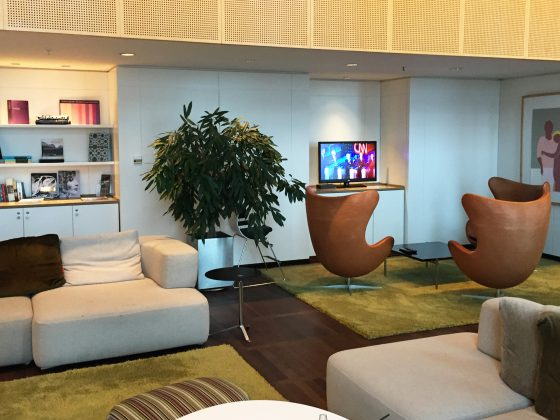 Hilton Copenhagen Executive Lounge interiør