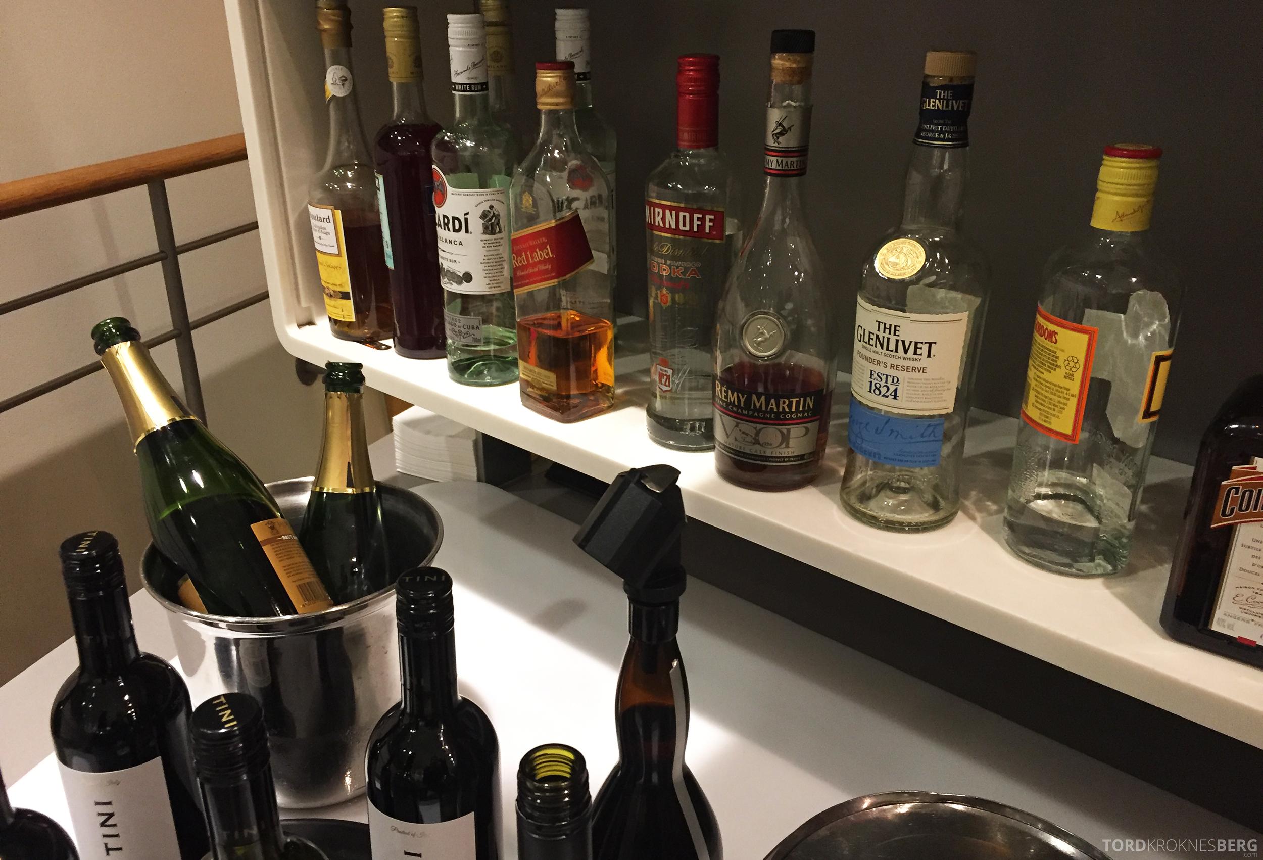 SAS Gold Lounge København alkohol