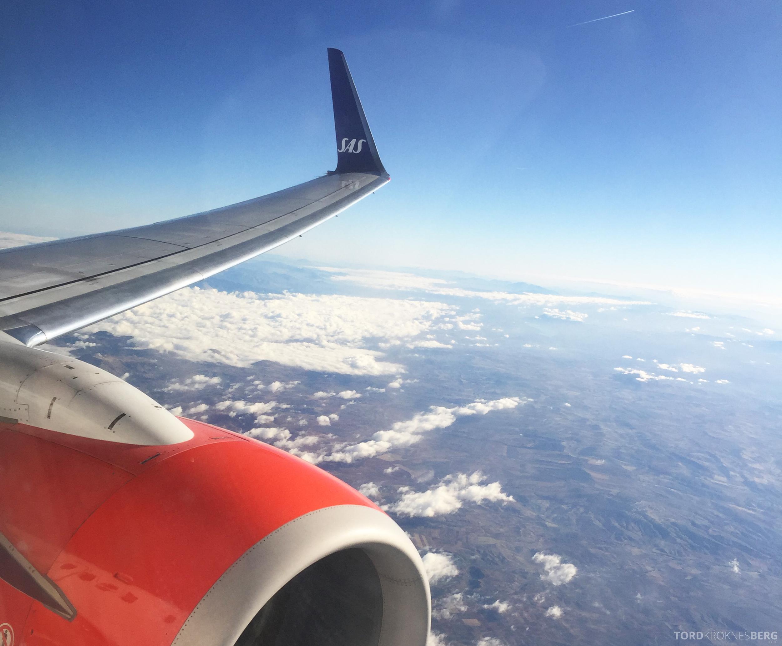 SAS Plus Oslo Malaga ankomst