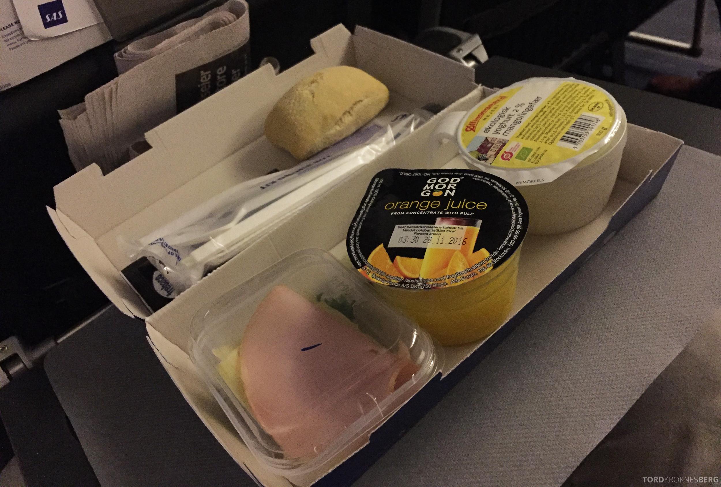 SAS Plus Oslo Malaga frokost
