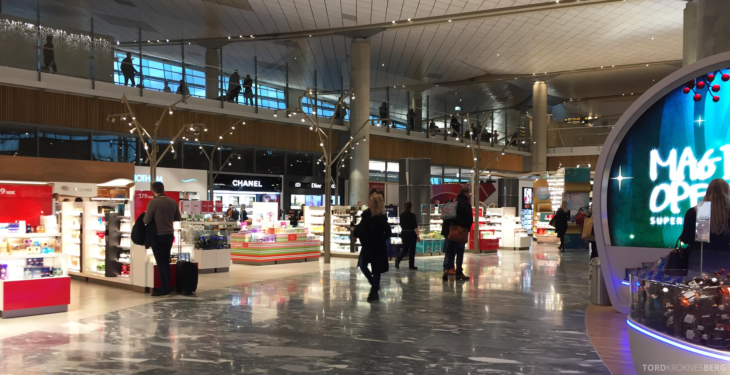 Nye Oslo Lufthavn taxfree
