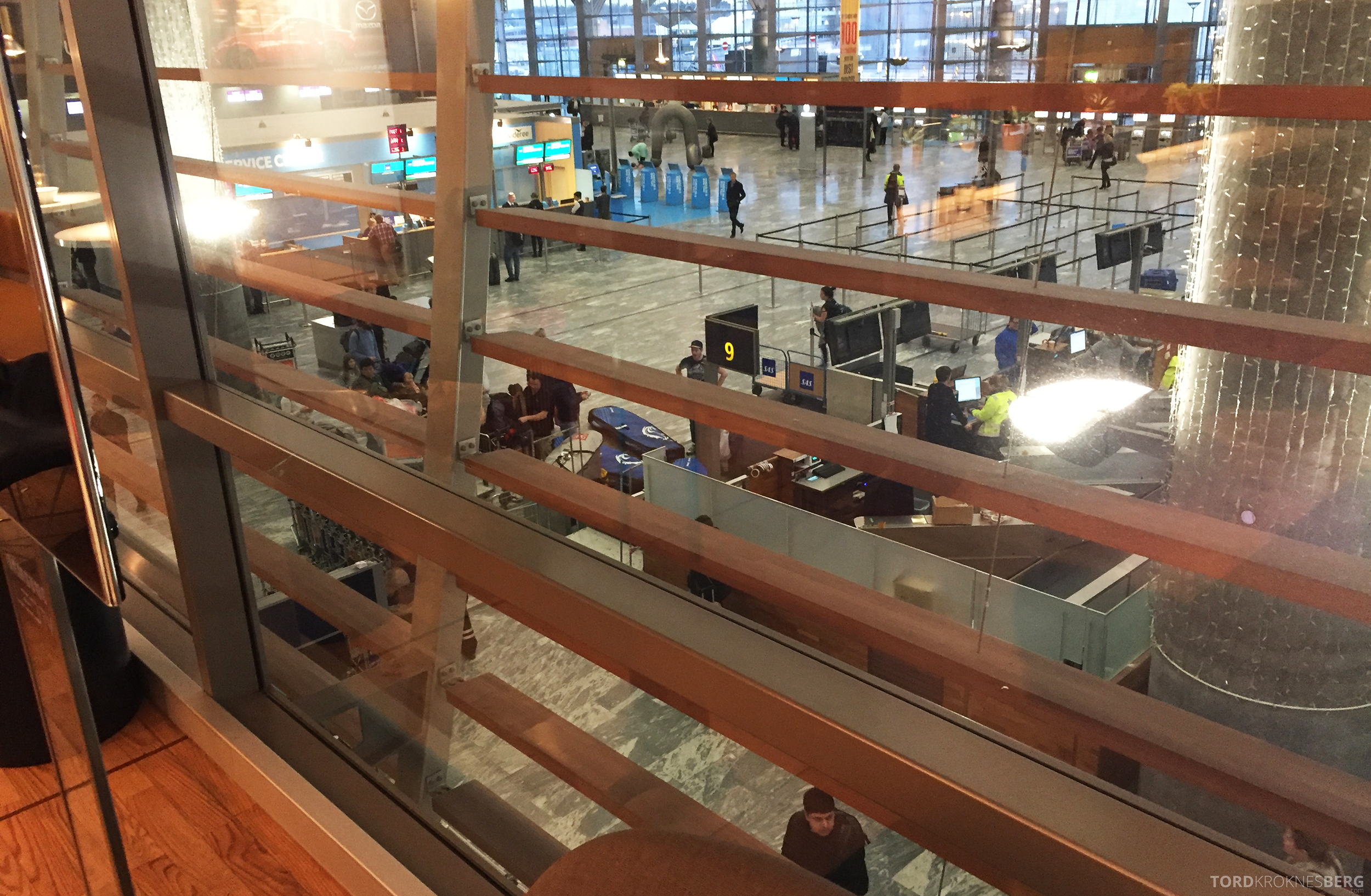 SAS Go Oslo Paris utsikt fra loungen