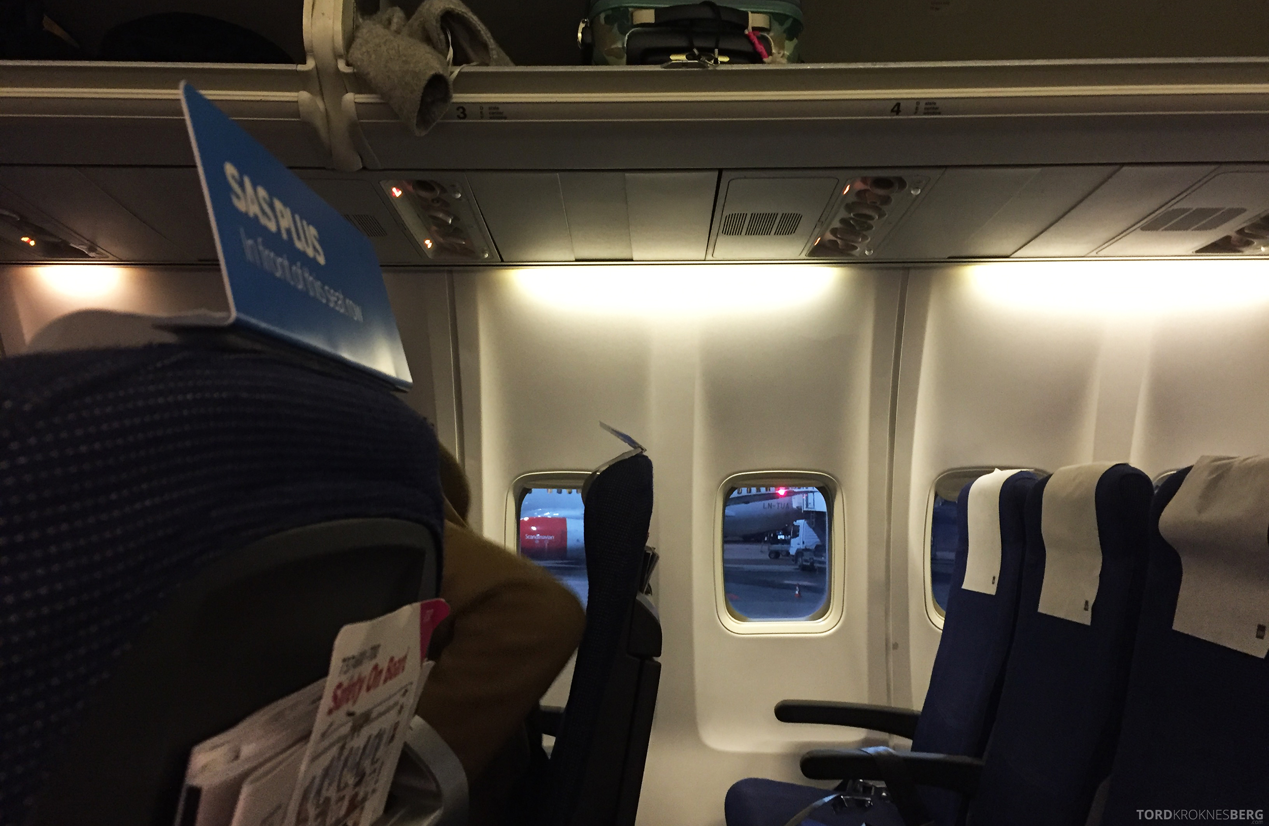 SAS Go Oslo Paris ombord