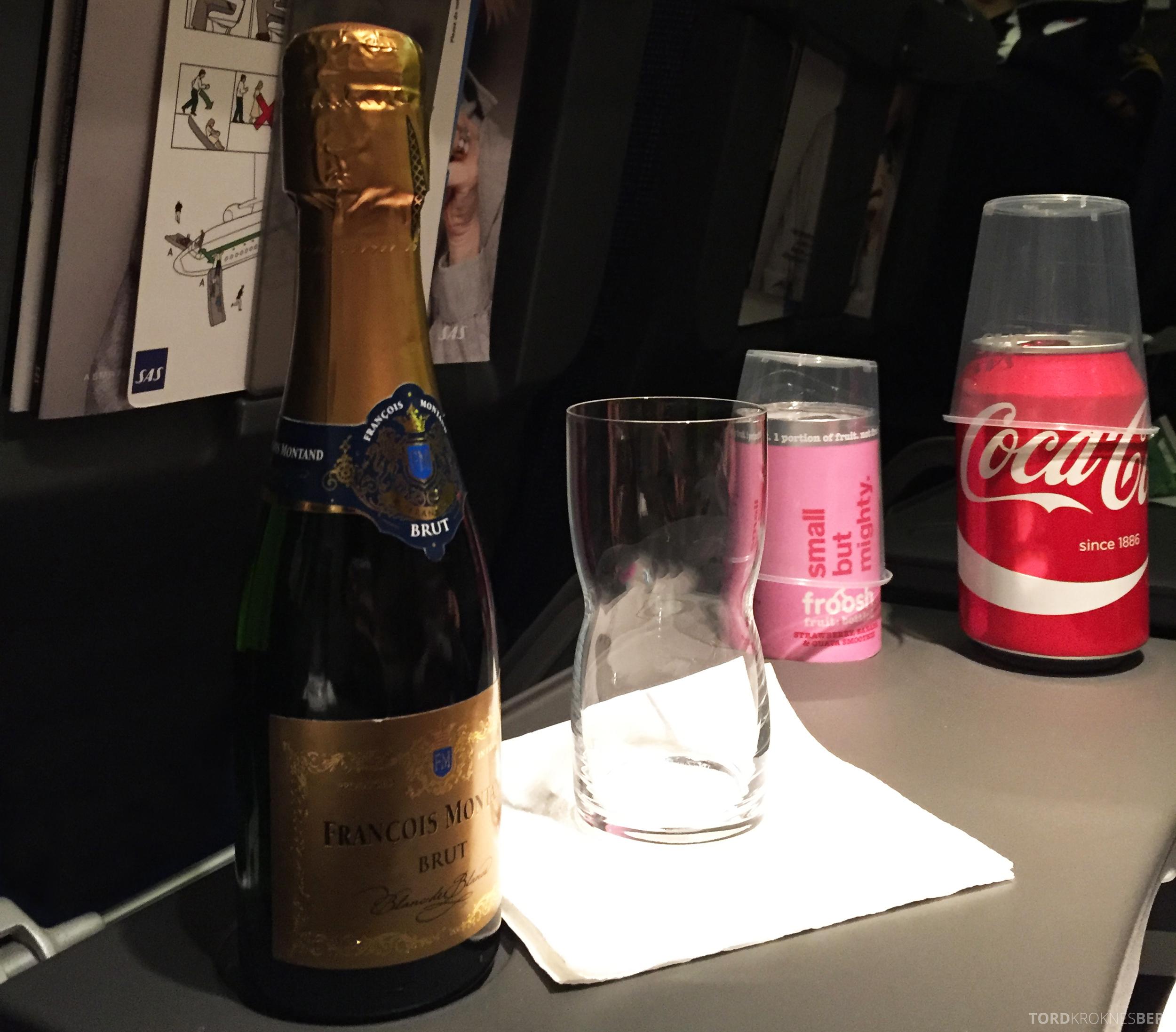SAS Go Oslo Paris gratis drikke
