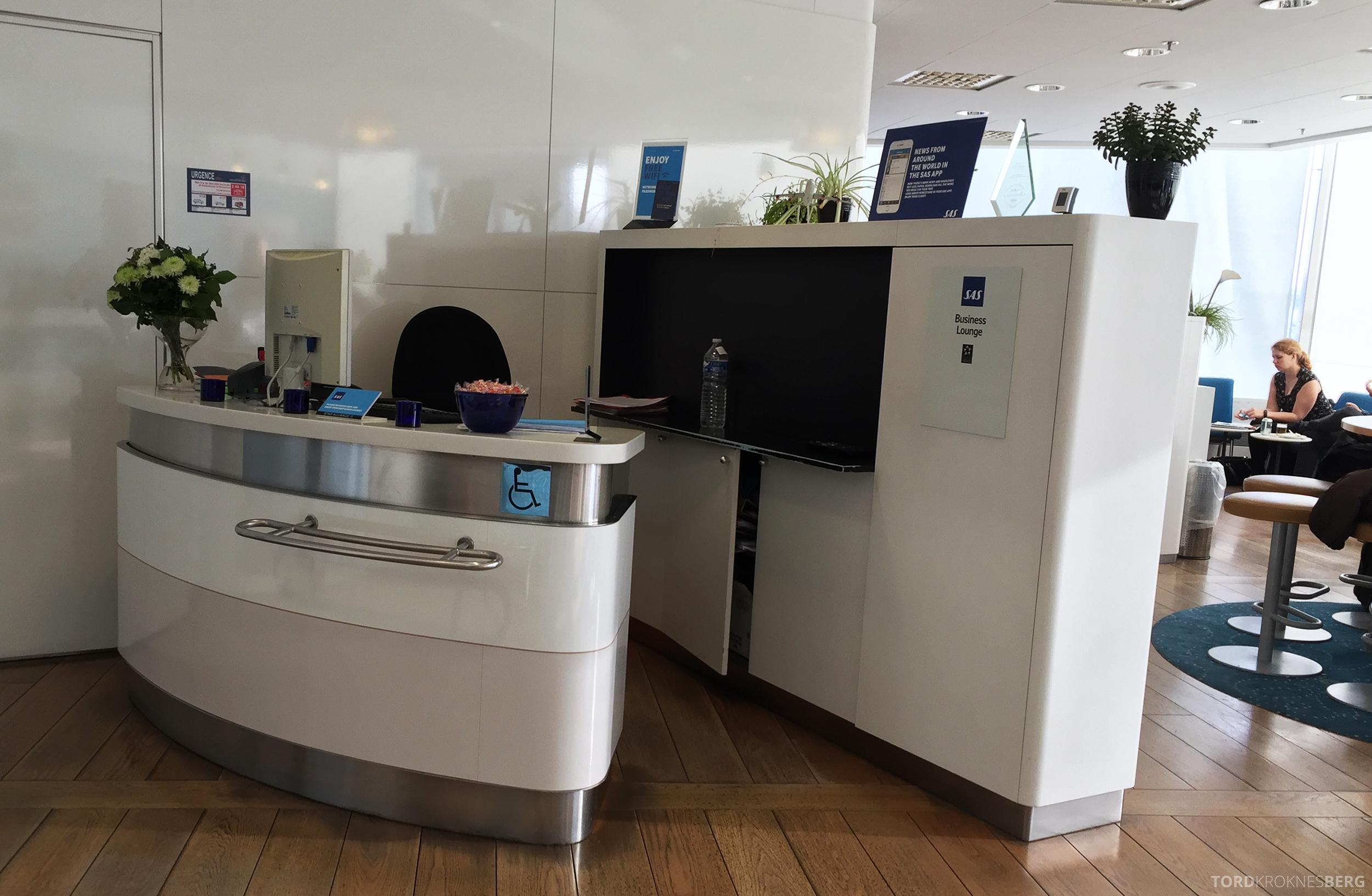 SAS Lounge Paris resepsjon