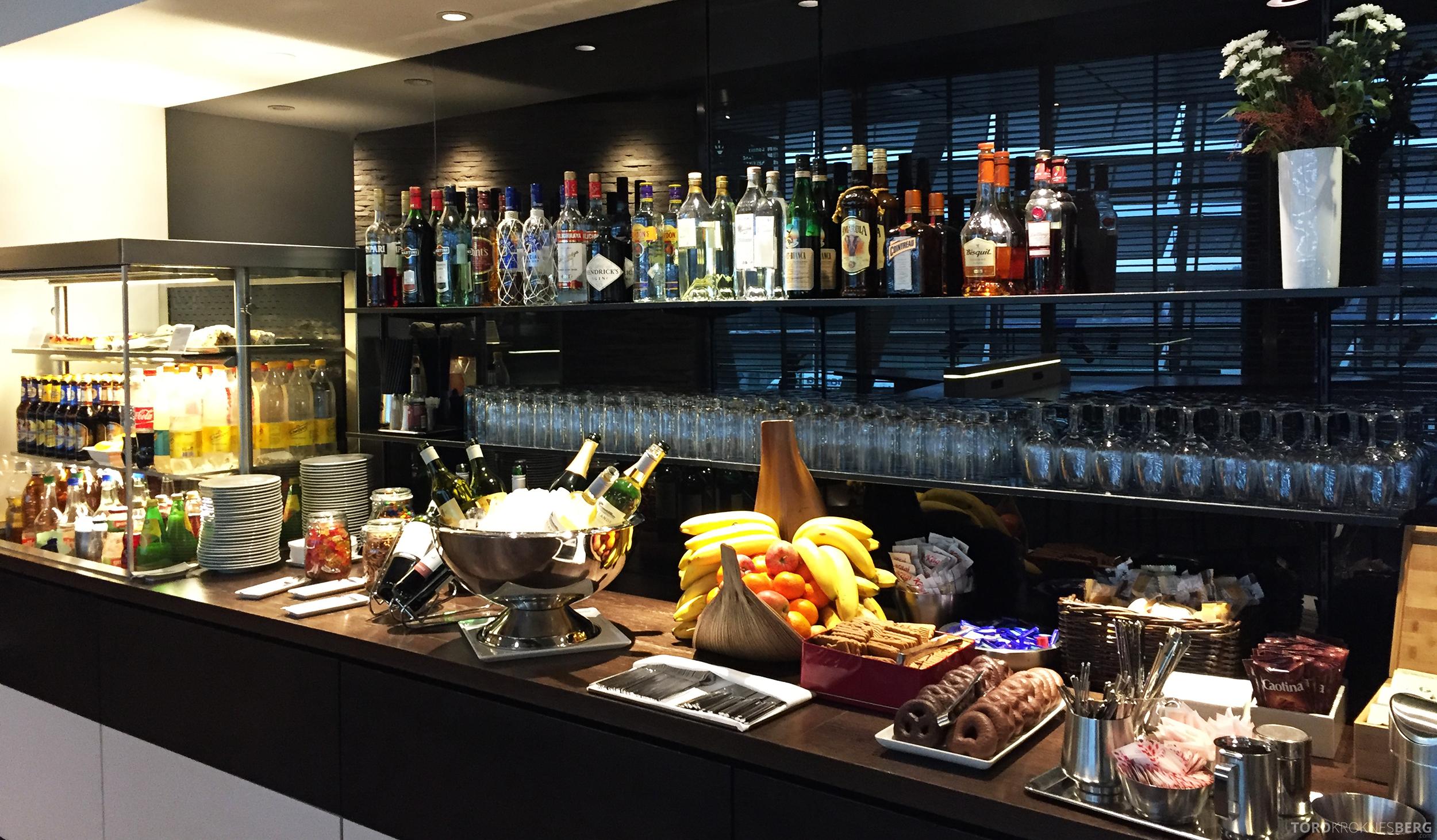 Swiss Senator Lounge Zurich buffet