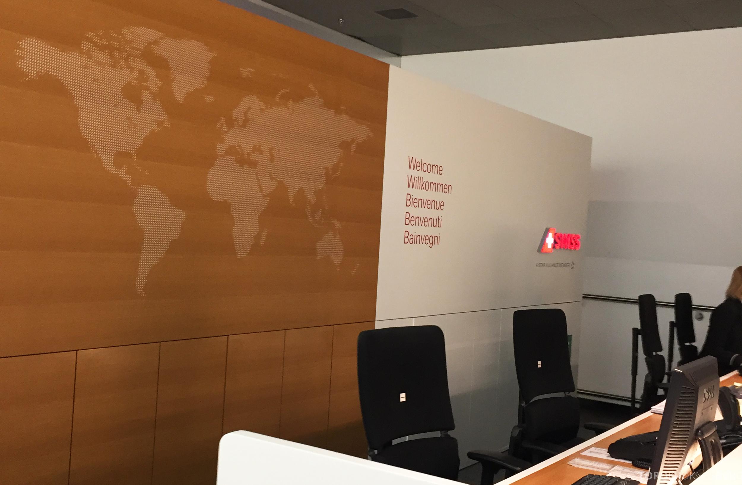Swiss Senator Lounge Zurich resepsjon