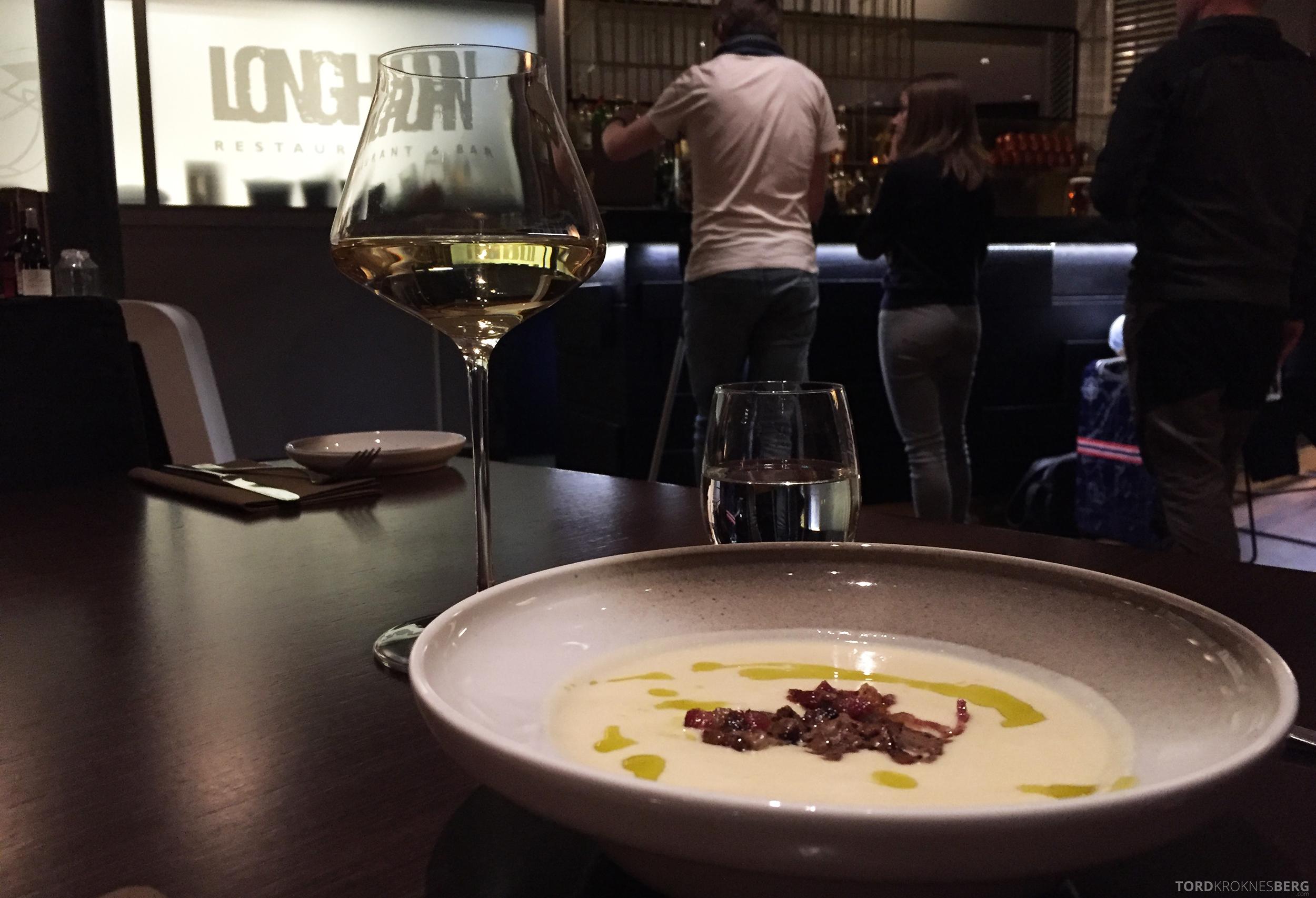 Longhorn Restaurant Radisson Blu Værnes Trondheim blomkålsuppe