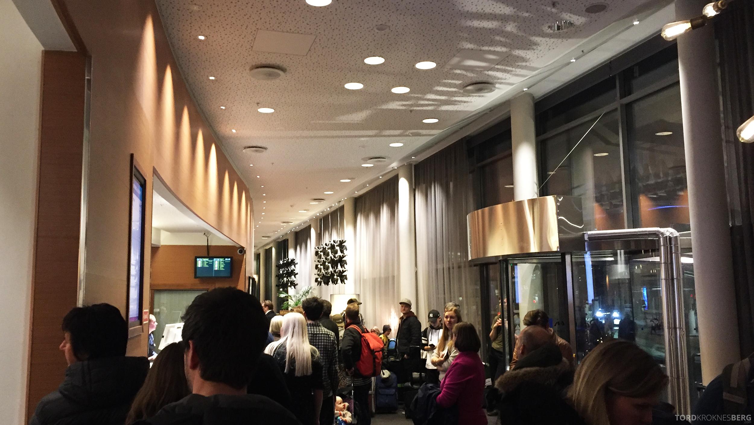 Radisson Blu Airport Hotel Trondheim kaotisk resepsjon