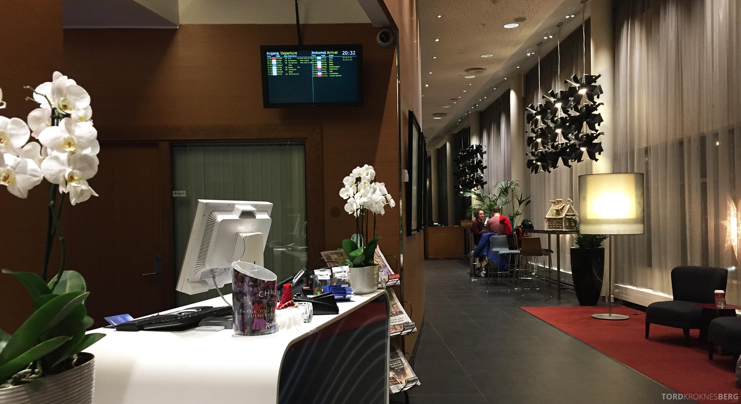 Radisson Blu Airport Hotel Trondheim resepsjon